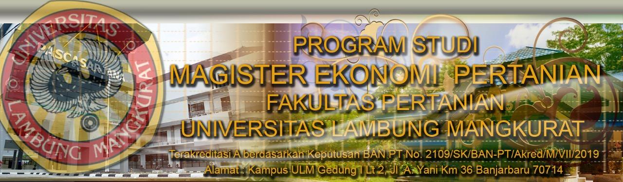 Magister Ekonomi Pertanian ULM